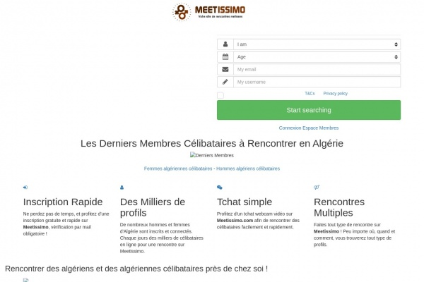 Algerie.Meetissimo.com : Rencontres entre internationals