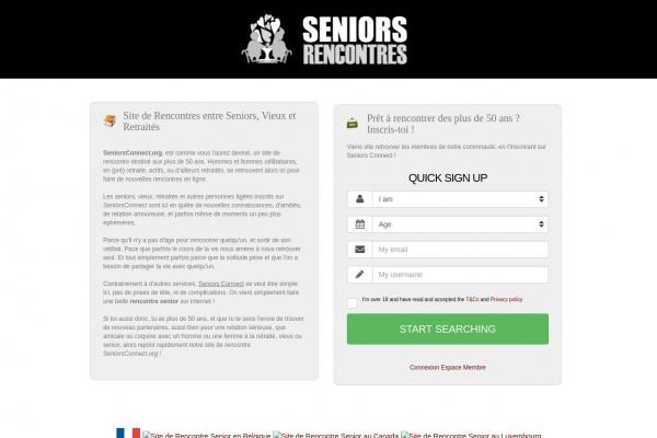 Seniorsconnect.org le service de rencontres senior
