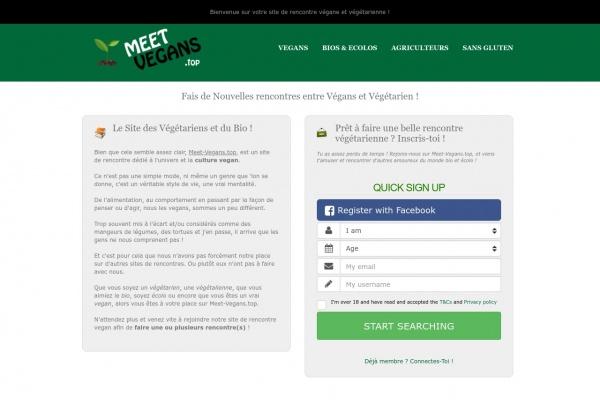 Des hommes et femmes végétariens à rencontrer sur Meet-Vegans.top