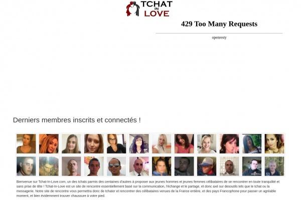 Rencontres entre tchats sur Tchat-In-Love.com