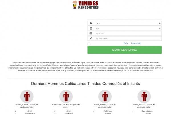 Timides-Rencontres.club : test et avis