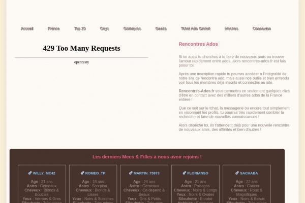 Rencontres-Ados.fr : Meilleur site de rencontre des jeune