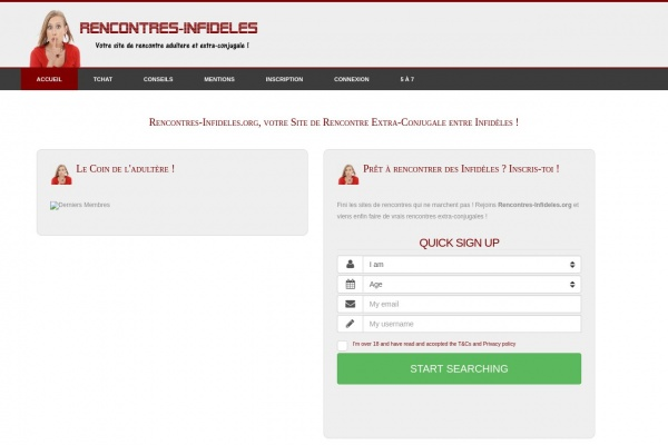 Découvrez Rencontres-Infideles.org